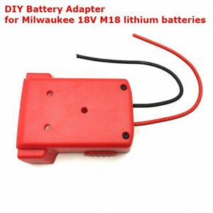 DIY Battery Adapter for Milwaukee 18V M18 Dock Power Connector 12 Gauge Robot