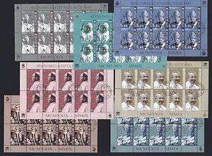Vatikan-2009-7-Paepste-Popes-Papes-Papas-Kleinbogen-Ersttag-unter-Postpreis