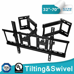 Tv Corner Wall Bracket Mount Tilt Swivel Lcd Led 40 42 46 47 50 55