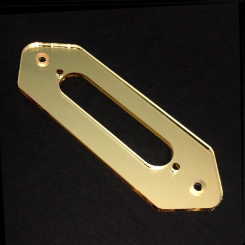CONVERSION GUITAR PICKUP MOUNTING RING GOLD MIRROR P90 DogEar to Tele Neck