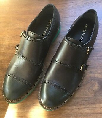 8uk/9us New With Box Made In Italy Frank Sergio Rossi Double Monk Strap Cap Toe