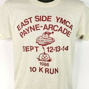 Payne-Arcade-Harvest-Festival-10K-T-Shirt-Vintage-80s-YMCA-Made-In-USA-Medium