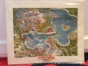 Walt Disney World 40th Anniversary Magic Kingdom Resort Map and Cast Pins