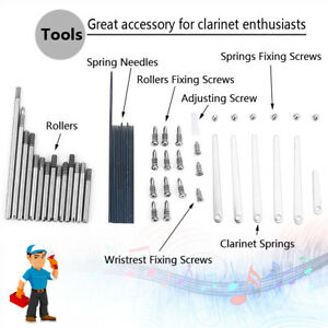 s l300 1 set of clarinet repair screw parts, 7 maintenance tools for