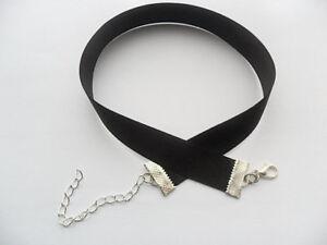 Black-satin-choker-necklace-1-6-cm-x-size-28-33-cm-to-plus-size-51-55-cm