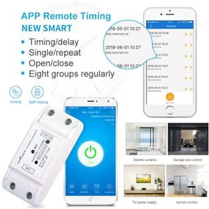 Phone-Remote-Control-Self-locking-Single-Way-Wifi-Timer-Relay-Module-Switch