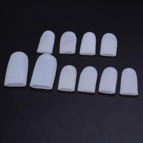 10Pcs Toe Silicone Gel Protector Sleeve Tubes Ingrown Toenail Corn Cushion Cap