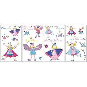 Piece-Partenaires-Fairy-Princesse-Enfants-Chambre-Autocollant-Mural-23-Inclus