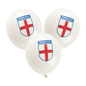 30 England Balloons St Georges Day Football World Cup Rugby Party Decorations