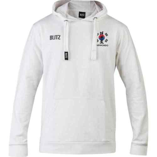 White Blitz Taekwondo Club Hooded Top Jumper Hoody