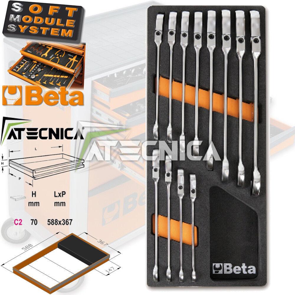 Thermogeformte beta M46 C2-147 12 Werkzeuge Schlüssel zum Ratsche