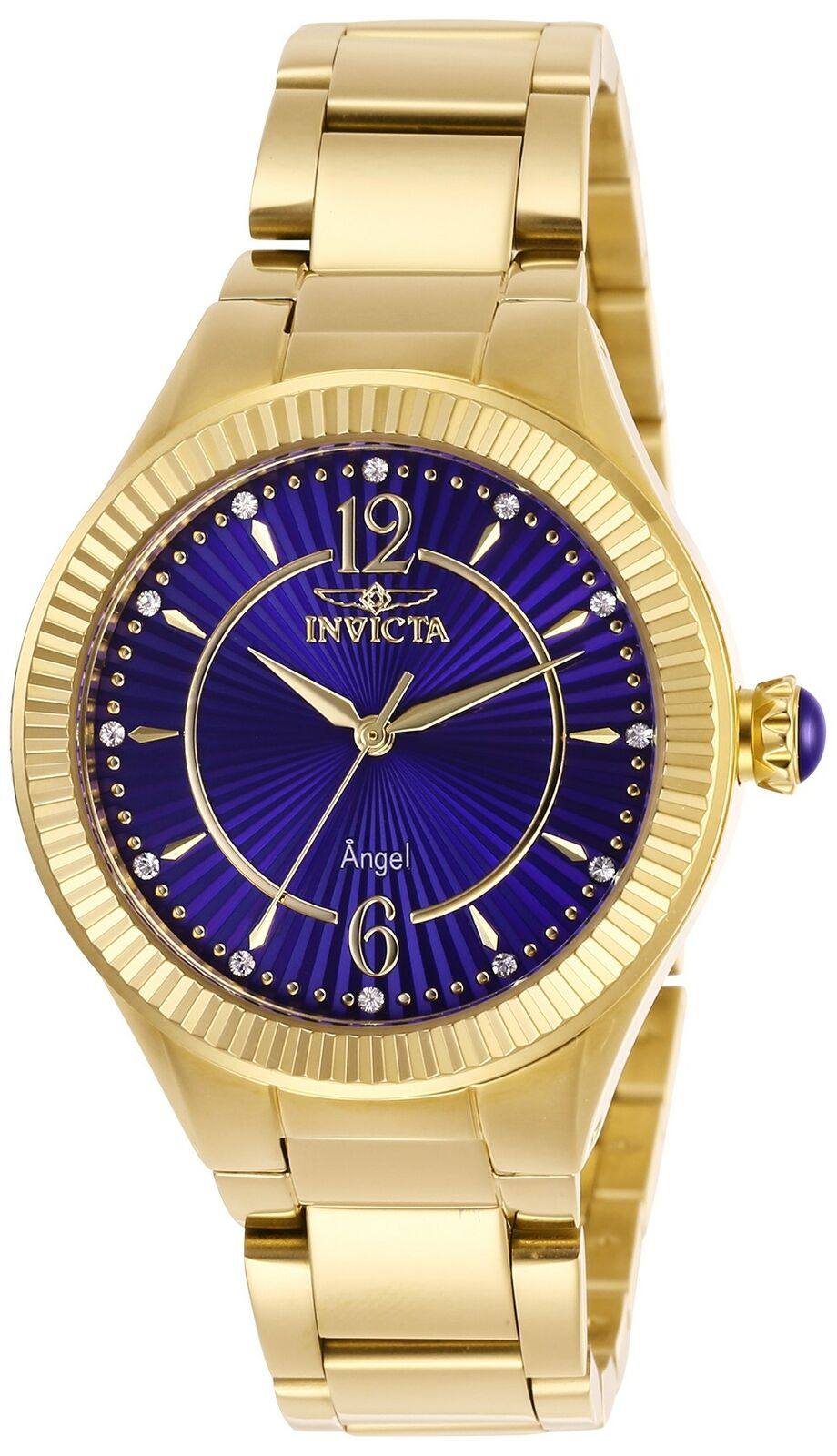 Invicta Women's Angel 28281 35mm Blue Dial Stainless Steel Watch