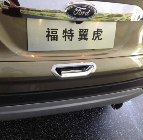 Chromed Rear Tail Door Cover Bowl Protector Trim For Ford Escape Kuga 2013-16