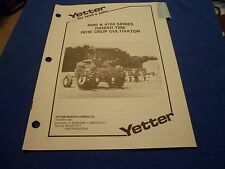 Drawer 21 Yetter 4000 4100 Danish Tine Row Crop Cultivator Operators Manual