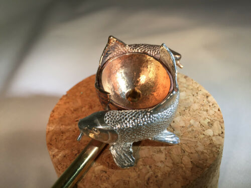 Copper and Brass Fish Tobacco Pipe from Seattle HEMPFEST®