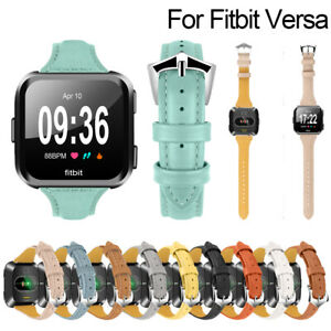 For-Fitbit-Versa-Replacement-Genuine-Leather-Wristband-Watch-Band-Strap-Bracelet