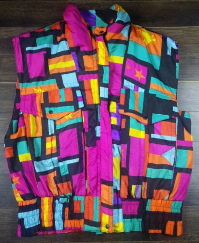 Vintage 90's Andy Johns Size Large Colorful Print