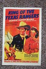 King of the Texas Rangers Lobby Card Movie Poster The Fifth Column Strikes