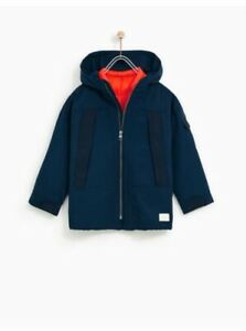 60% clearance on feet images of attractive style Details about Zara Boys Size 5 Navy Parka With Contrasting Detachable  Jacket 3 Coats In One