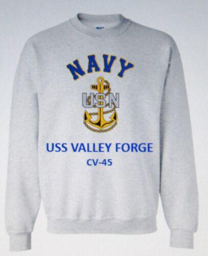 USS MIDWAY  CV//CVA-41* AIRCRAFT CARRIER NAVY ANCHOR EMBLEM SWEATSHIRT
