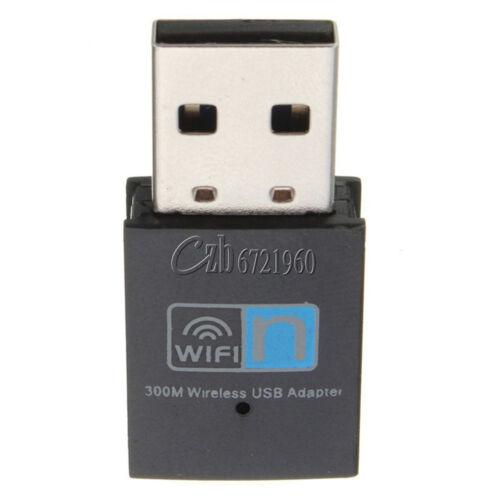 300Mbps Mini Wireless USB Wi-fi Wlan Adapter 802.11 b//g//n Network LAN Dongle New
