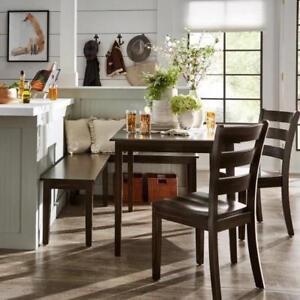 Details About 5 Piece Corner Nook Dining Set Breakfast Home Kitchen  Furniture Rustic Farmhouse