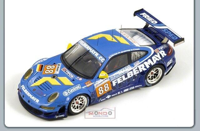 Porsche 997 Gt3  88 Le Mans 2010 1 43 Spark Sp2585 Modellino