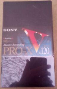 VHS sony pro-x E120 virgen