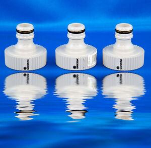 """3x GARDENA Hahnstück G 1"""" 33,3 mm Ideal bei Einsatz von Pumpen Wasserpumpe Pool"""