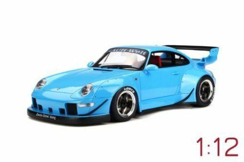 1 12 GT Spirit gt167 Porsche 911 (993) RWB brumoso mundo azul claro Limited Edition