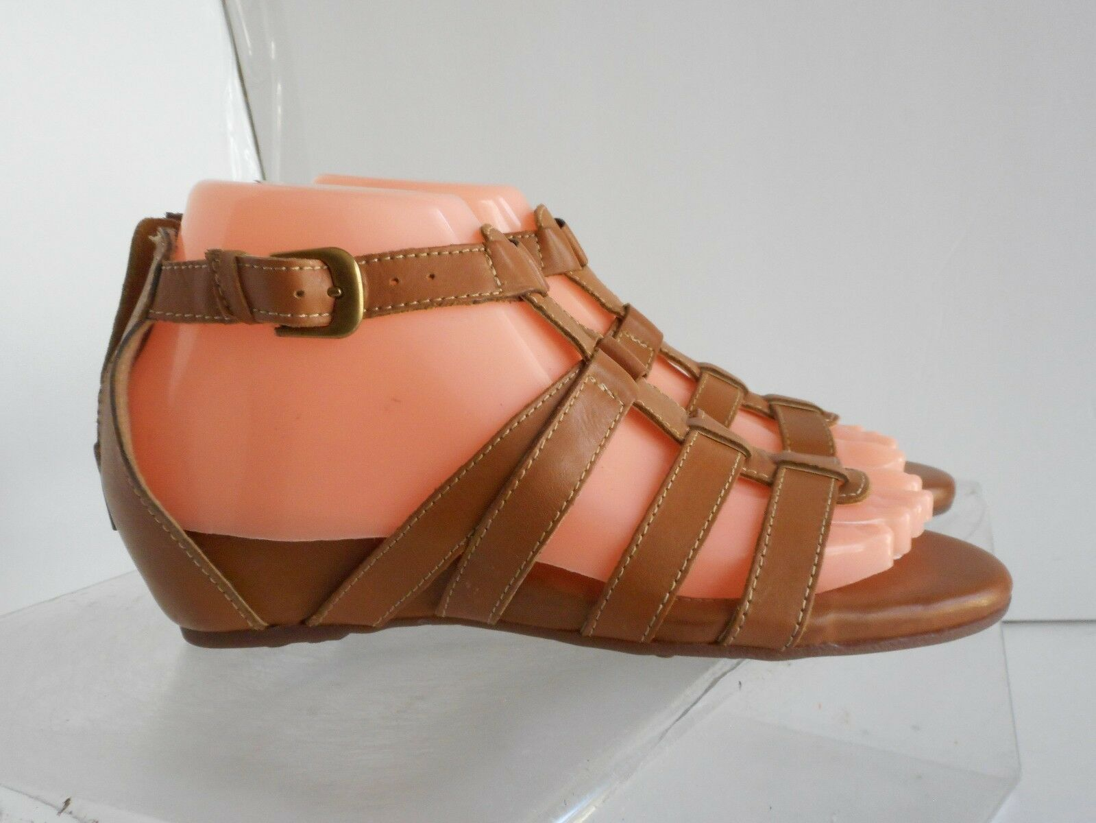 Womens Sofft Brown Tan Leather Strap Sandals shoes Sz. 10 M NEW