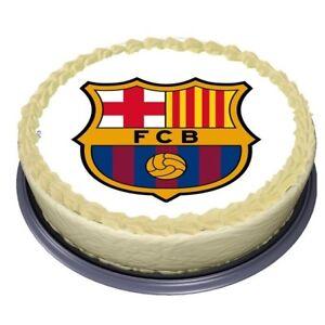 Details Zu Fcb Barcelona Fussball Essbar Tortenaufleger Tortenbild Neu Party Deko Geburtstag