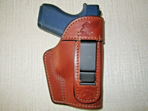 right or left hand FITS GLOCK 42 IWB BROWN leather holster ambidextrous