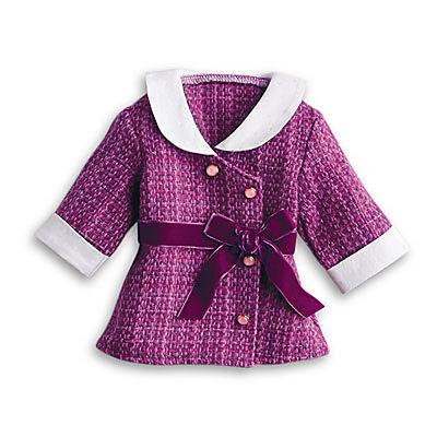 """Altro Bambole Considerate American Girl Rebecca Completo Viola Giacca Solo Per 18 """" Bambole Rebecca's Bambole Fashion"""