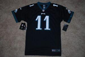 sale retailer 10beb b6f01 Details about NEW Nike #11 Carson Wentz Philadelphia Eagles Black NFL  Jersey (Youth X-Large)