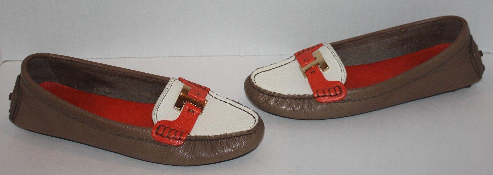 Rara Para Mujer Tory Burch Casey marrón marrón marrón MultiColor Cuero Mocasines Flats Talla 8 M  precio mas barato