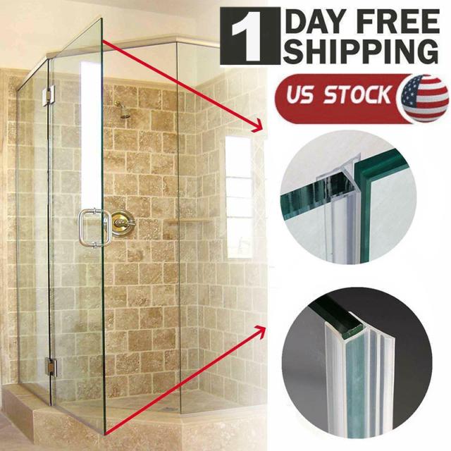 120 H Shape Glass Door Seal Strip, Glass Shower Door Shield
