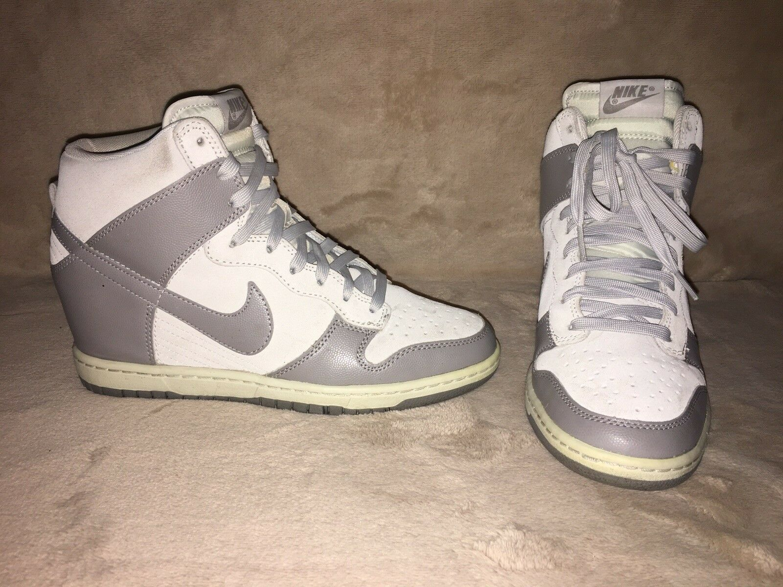 Nike Dunk Sky Hi Grey Hidden Wedge Sz 8.5