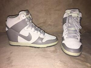 low priced b2a6e bfaac Image is loading Nike-Dunk-Sky-Hi-Grey-Hidden-Wedge-Sz-