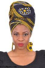 African Print Ankara Head wrap, Tie, scarf, Multicolor, 100% Cotton.