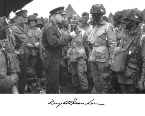 President General Dwight Eisenhower WWII D-Day Autograph 8 x 10 11 x 14 Photo