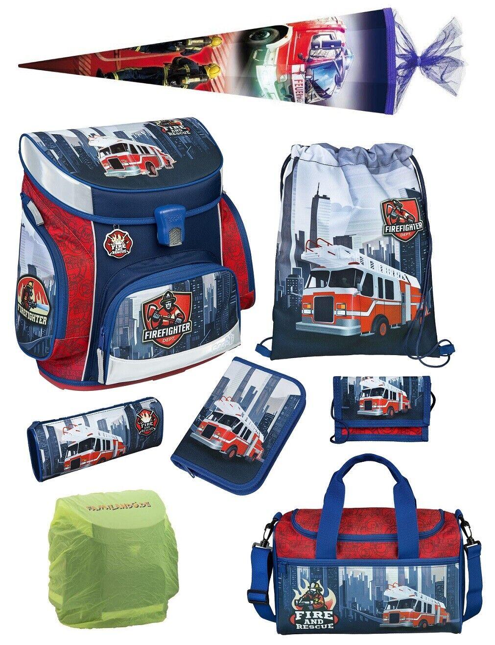 Feuerwehr Scooli Schulranzen Set 8tlg Sporttasche Schultüte 85cm Firefighter NEU   Verschiedene Stile und Stile    Bestellungen Sind Willkommen    Die erste Reihe von umfassenden Spezifikationen für Kunden