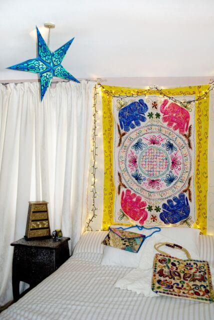 Indien Éléphant Mandala Décorations Murales Tapisserie Sequin Brodé Empiècement