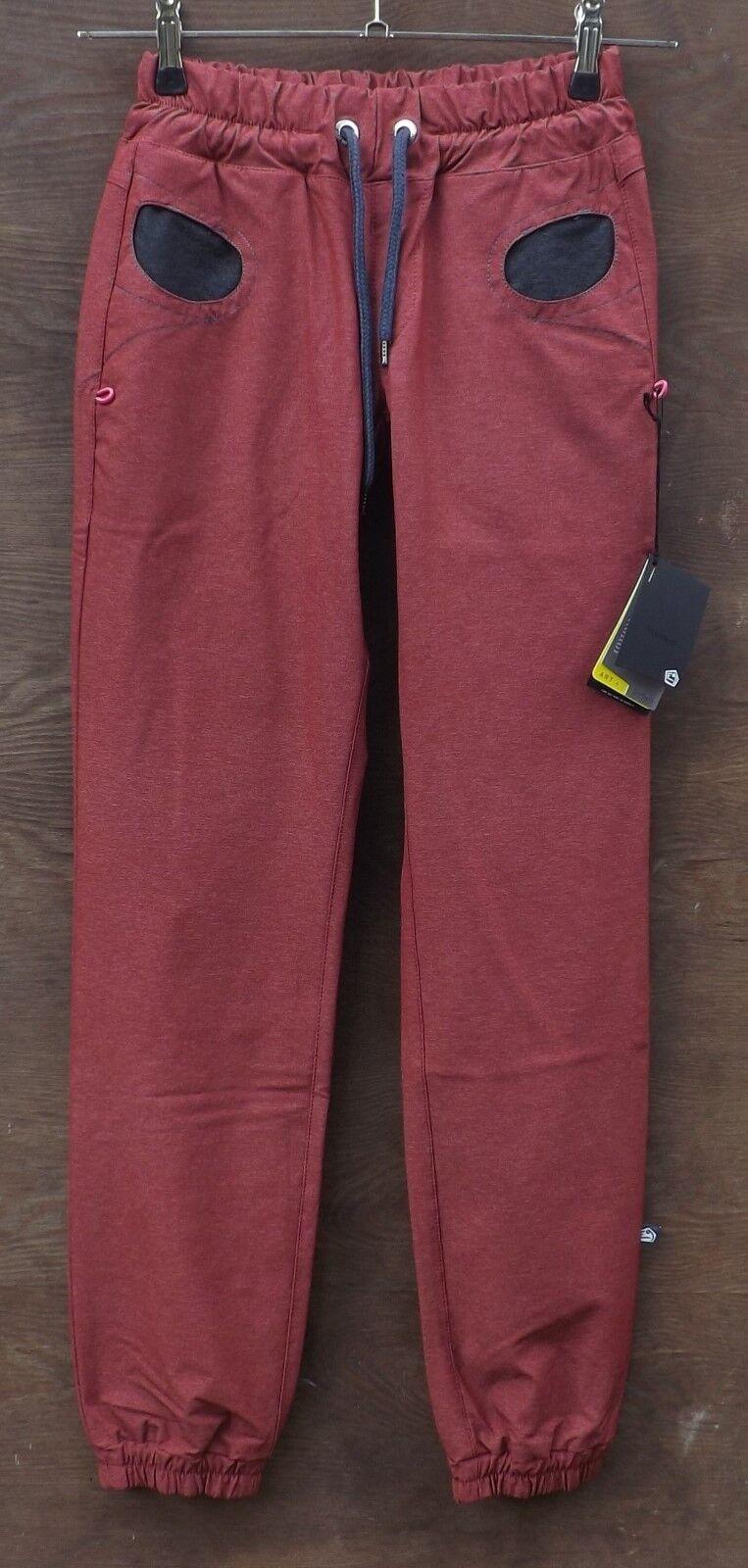 E9 Dolores, Elástico Pantalones Mujer, Escalar Boulderhose, Wine, Talla S
