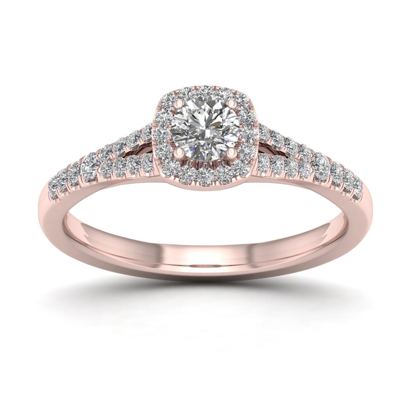 14k pink gold 3 4ct TDW Diamond Split Shank Ring