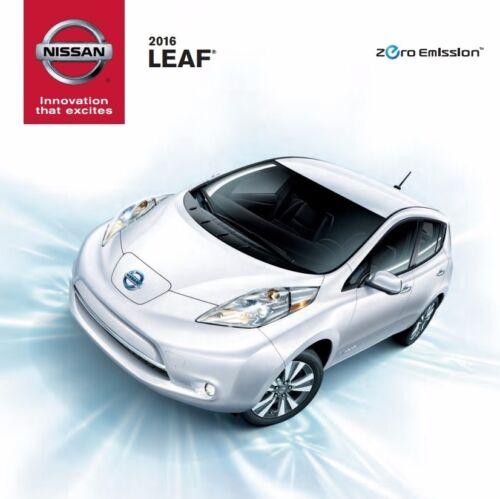 Electric Hybrid 2016 Nissan Leaf 16-page Original Car Sales Brochure Catalog