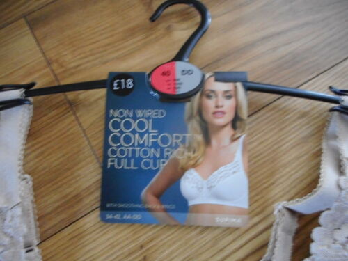 42B  MARKS /& SPENCERS COOL COMFORT COTTON RICH NON PADDED  NON WIRED BRA  NEW