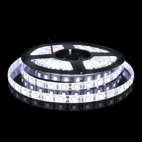 16.3ft Static Carvan Balcony Outside Led Strip Lighting 5050 Cool White 5M