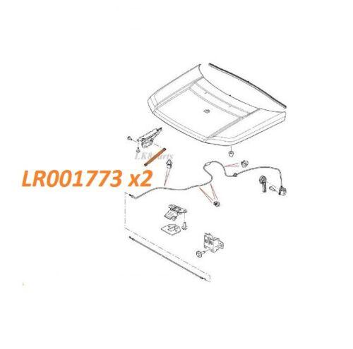 LAND ROVER LR2 08-13 HOOD STRUT SHOCK BONNET SET x2 LR001773 NEW