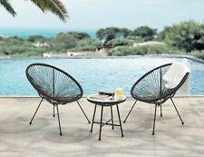 Evre Goa Acapulco Styled Garden Furniture Set Bistro Patio Indoor Outdoor